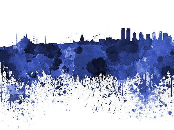 Pablo Romero - Istanbul skyline in water... Print