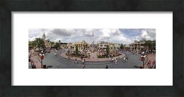 Stuart Rosenthal - Main Street USA Panorama Print