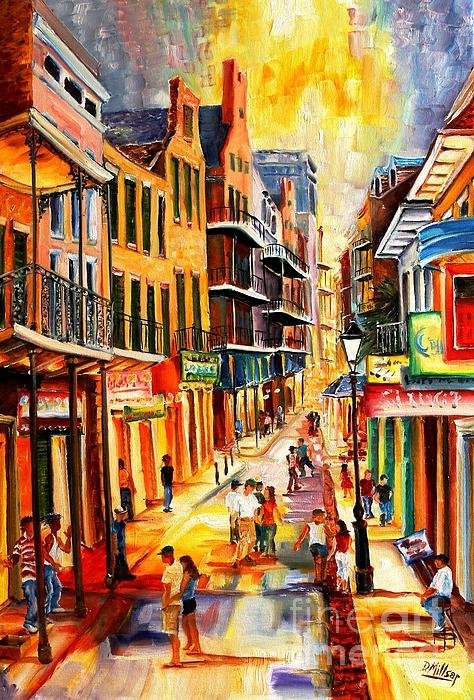 Diane Millsap - Bourbon Street Mood Print