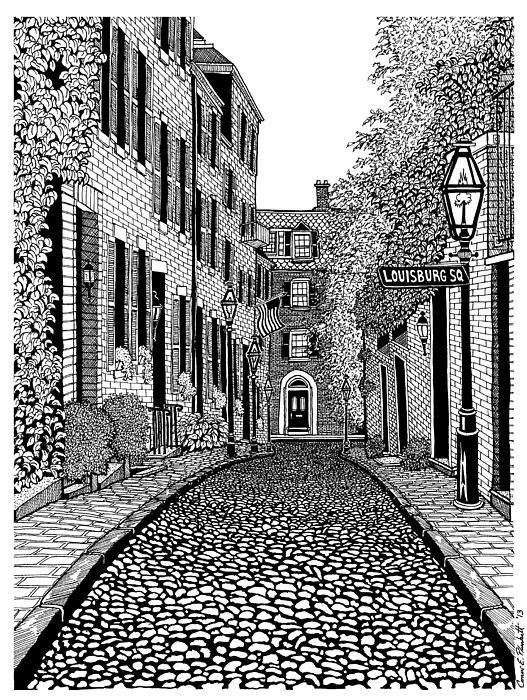 Conor Plunkett - Acorn Street Louisburg Sq... Print