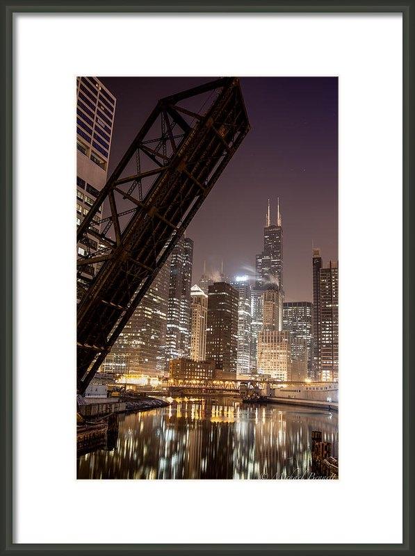 Michael  Bennett - Chicago Skyline over Chic... Print