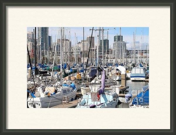 Wingsdomain Art and Photography - Sail Boats at San Francis... Print