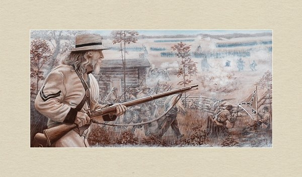Alton  w Williams - Confederate at Chickamaug... Print