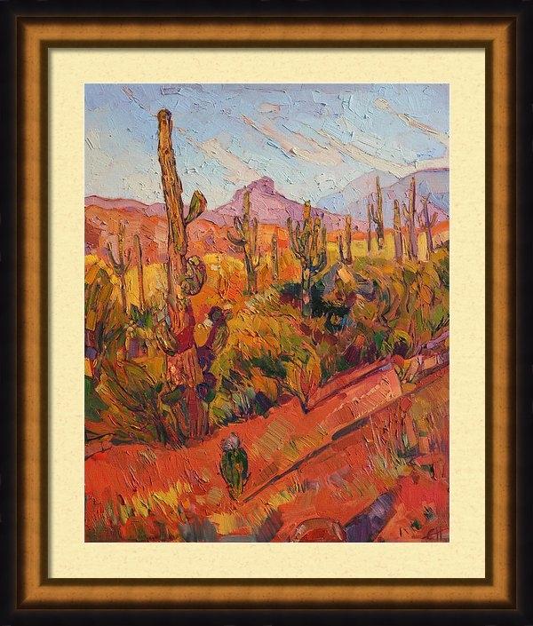 Erin Hanson - Saguaro Gathering  Print