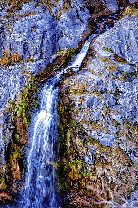 David Millenheft - Waterfall-Mt Timpanogos Print