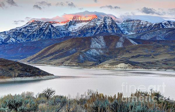 Gary Whitton - Mt. Timpanogos Winter Sun... Print