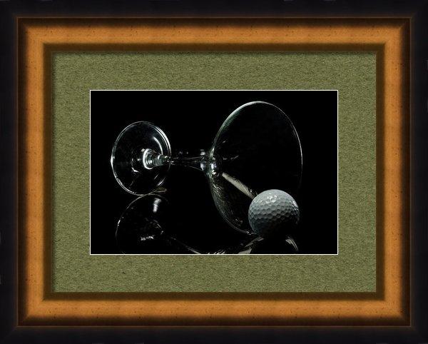 Linda Matlow - Golf Tini Golf ball and m... Print