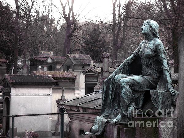 Kathy Fornal - Paris Cemetery Art Sculpt... Print