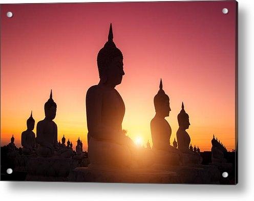 Prasert Krainukul - Buddha And Sunrise Print