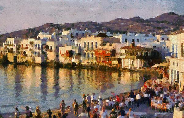 George Atsametakis - Little Venice in Mykonos ... Print
