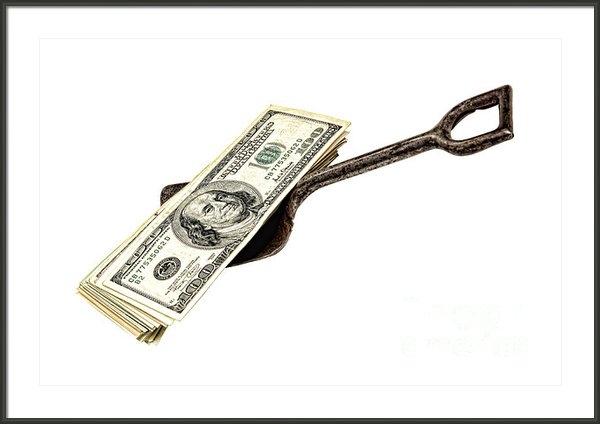 Olivier Le Queinec - Shovel of Dollar Print