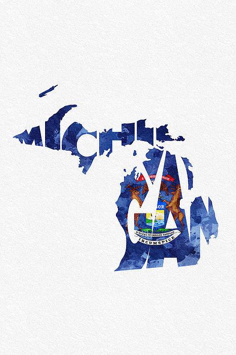 Ayse Deniz - Michigan Typographic Map ... Print