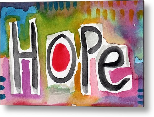 Linda Woods - Hope- colorful abstract p... Print