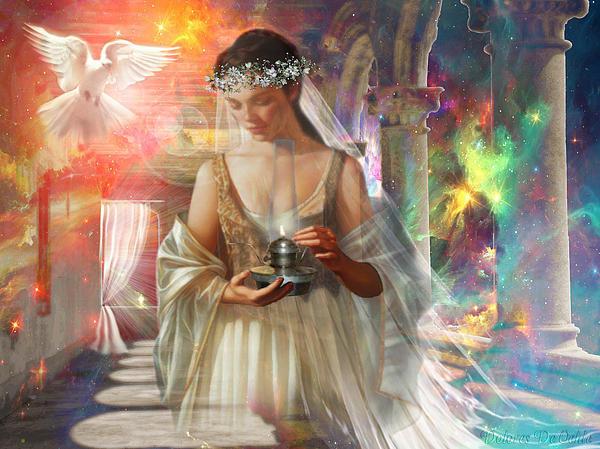 Dolores Develde - The Waiting Bride Print