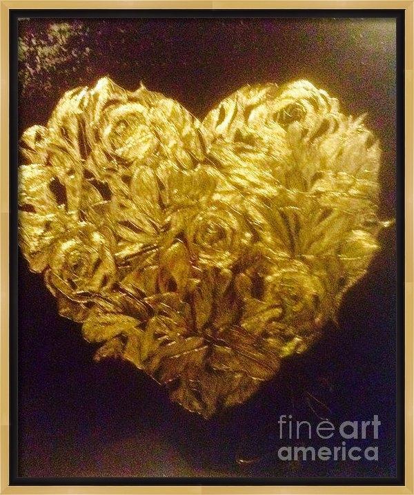 Franky A HICKS - The flower heart Print