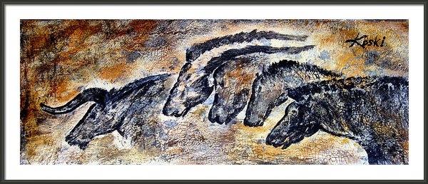 Beverly  Koski - Chauvet Cave Auroch and H... Print