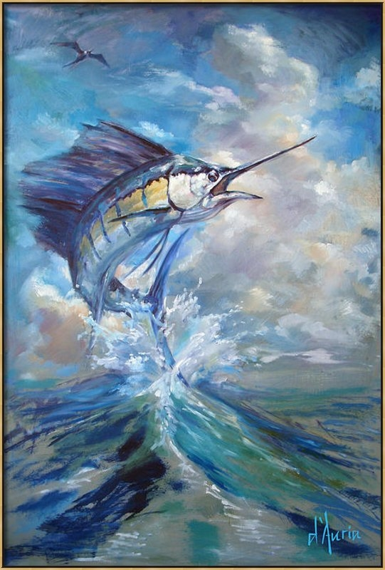 Tom Dauria - Sailfish and Frigate Print