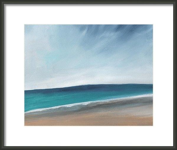 Linda Woods - Spring Beach- contemporar... Print