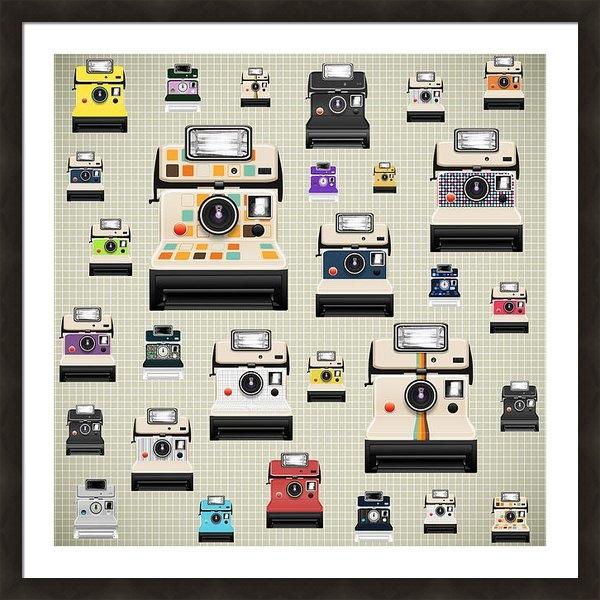 Setsiri Silapasuwanchai - Instant Camera Pattern Print