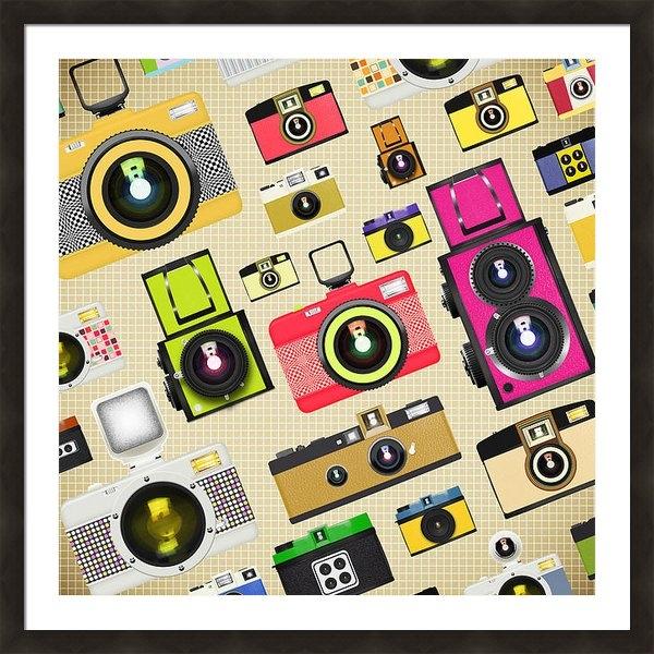 Setsiri Silapasuwanchai - Retro Camera Pattern Print