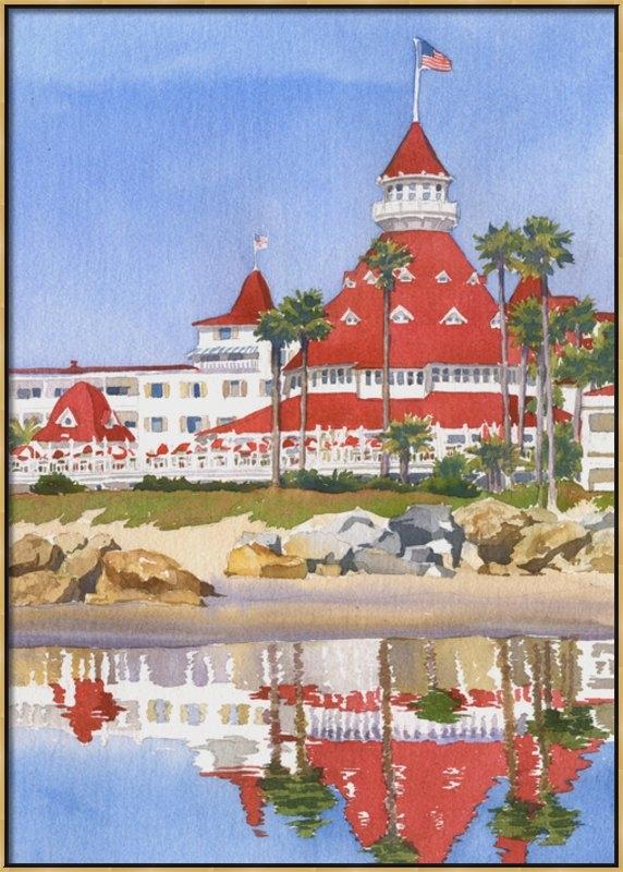 Mary Helmreich - Hotel Del Coronado Reflec... Print