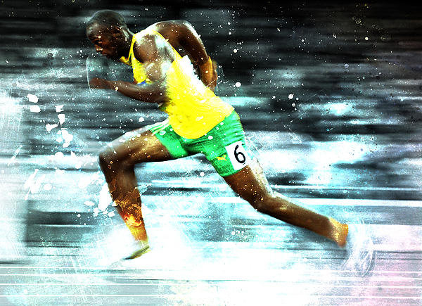 Brian Reaves - Usain Bolt Print