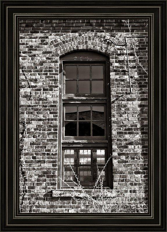 Olivier Le Queinec - Antique Factory Window Print