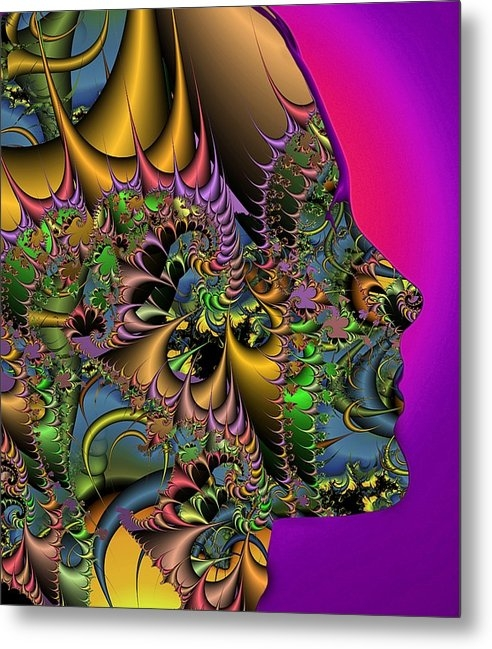 Science Photo Library - Fractal pattern and human... Print