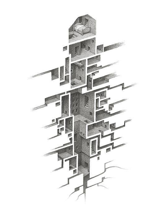 Mathew Borrett - Hiding Places Print