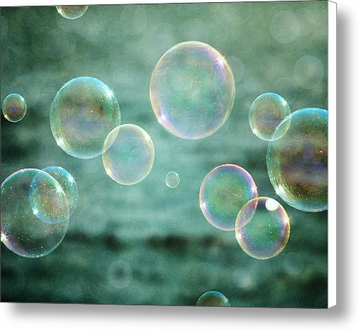 Lisa Russo - Bubbles in Teal and Pink Print