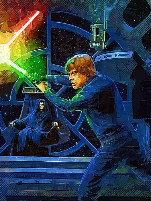 Victor Gladkiy - Episode 6 Star Wars Poste... Print