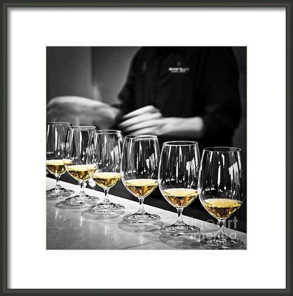 Elena Elisseeva - Wine tasting glasses Print