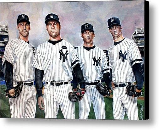 Michael  Pattison - Core 4 Yankees  Print