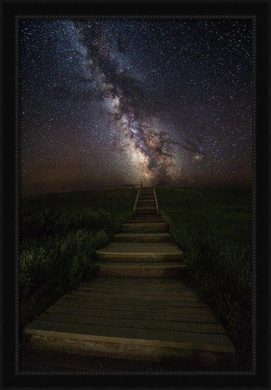 Aaron J Groen - Stairway to the Galaxy Print