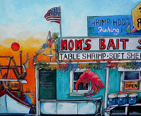 Patti Schermerhorn - Moms Bait Shop Print