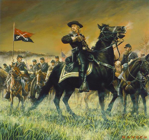 Dan Nance - George Custer USA Print