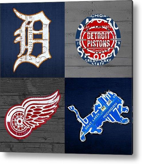 Design Turnpike - Detroit Sports Fan Recycl... Print