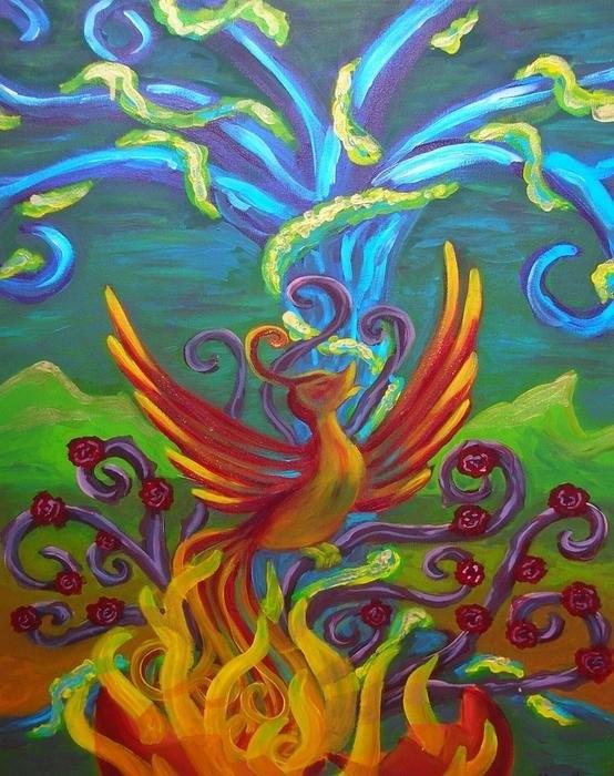 Morgan Leshinsky - Phoenix Bird Print