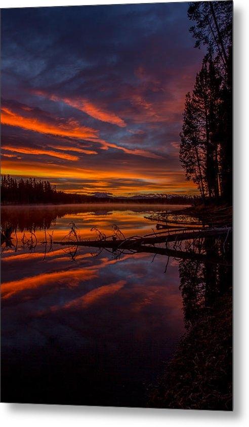 Thomas Szajner - Sunrise over the Yellowst... Print