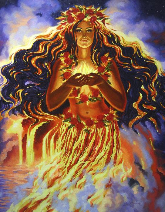 Olga Shevchenko - Sacred Fire of Pele Godde... Print