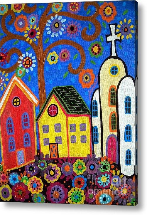 Pristine Cartera Turkus - Mexican Church Town Print