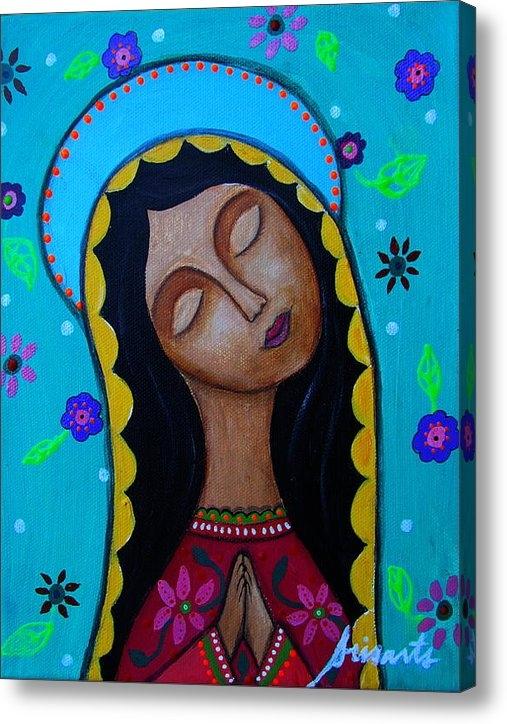 Pristine Cartera Turkus - Our Lady Of Guadalupe Print