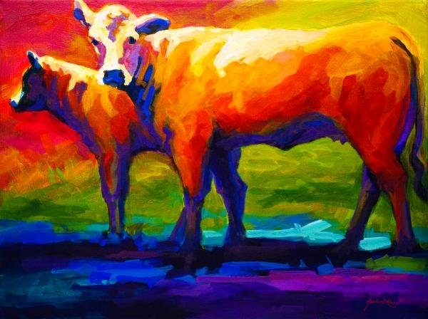 Marion Rose - Golden Beauty - Cow and C... Print