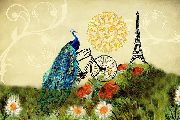 Peggy Collins - A Peacock in Paris Print