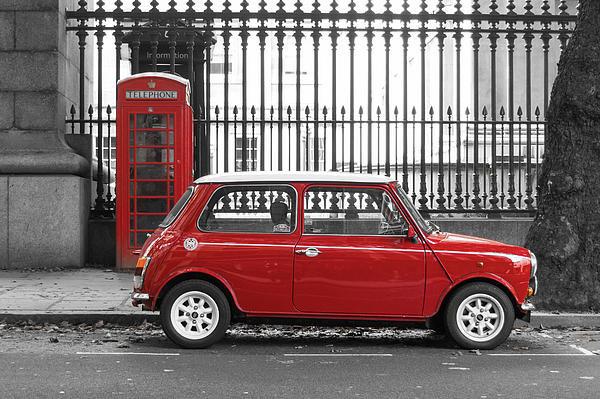 Dutourdumonde Photography - Red Mini Cooper in London Print