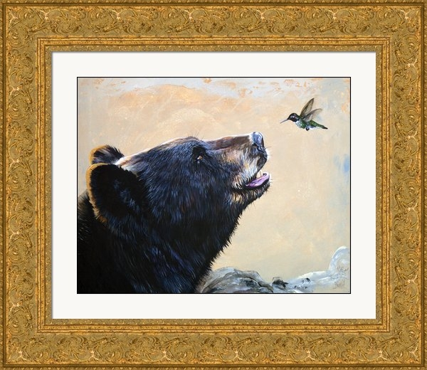 J W Baker - The Bear and the Hummingb... Print