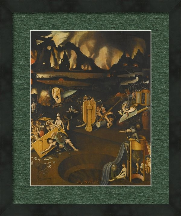 Follower Of Hieronymus Bosch - The Furnace Of Hell Print