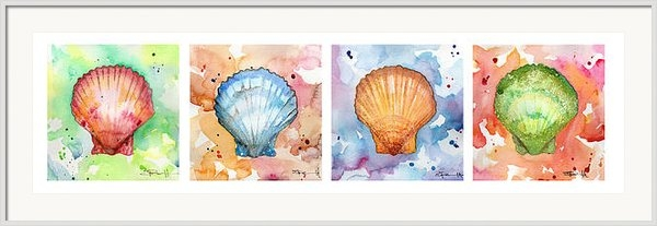 Sean Parnell - Sea Shells in Contrast Print