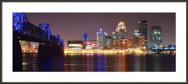 Frozen in Time Fine Art Photography - Louisville Panoramic View Print