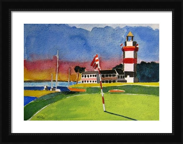 Lesley Giles - Harbor Town 18th SC Print